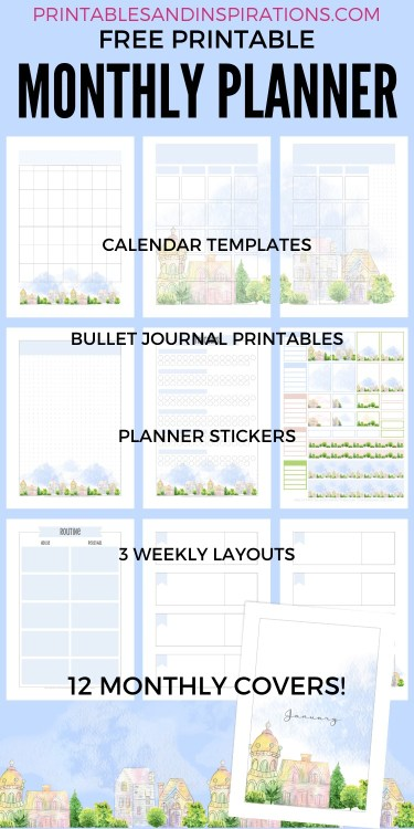Free Printable Stay Home Planner - to help organize your stay at home activities. Download the complete planner template. #stayhome #freeprintable #printablesandinspirations
