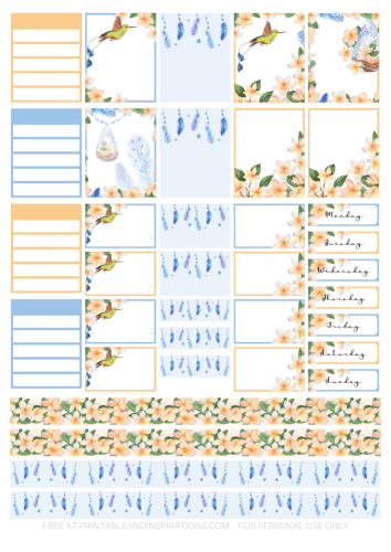 Free printable planner stickers - tropical planner stickers for Erin Condren life planner and Happy Planner #plannerstickers #freeprintable #printablesandinspirations #planneraddict