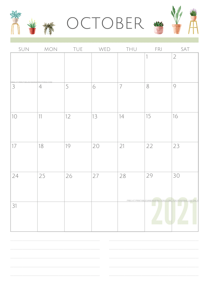 October 2021 planner - green free printable calendar #printablesandinspirations SEE PREVIOUS POST TO DOWNLOAD THE FREE PDF FILE
