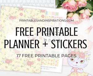 Cute Cat Planner Template - Free Printable Planner And Stickers #catlover #printablesandinspirations #freeprintable