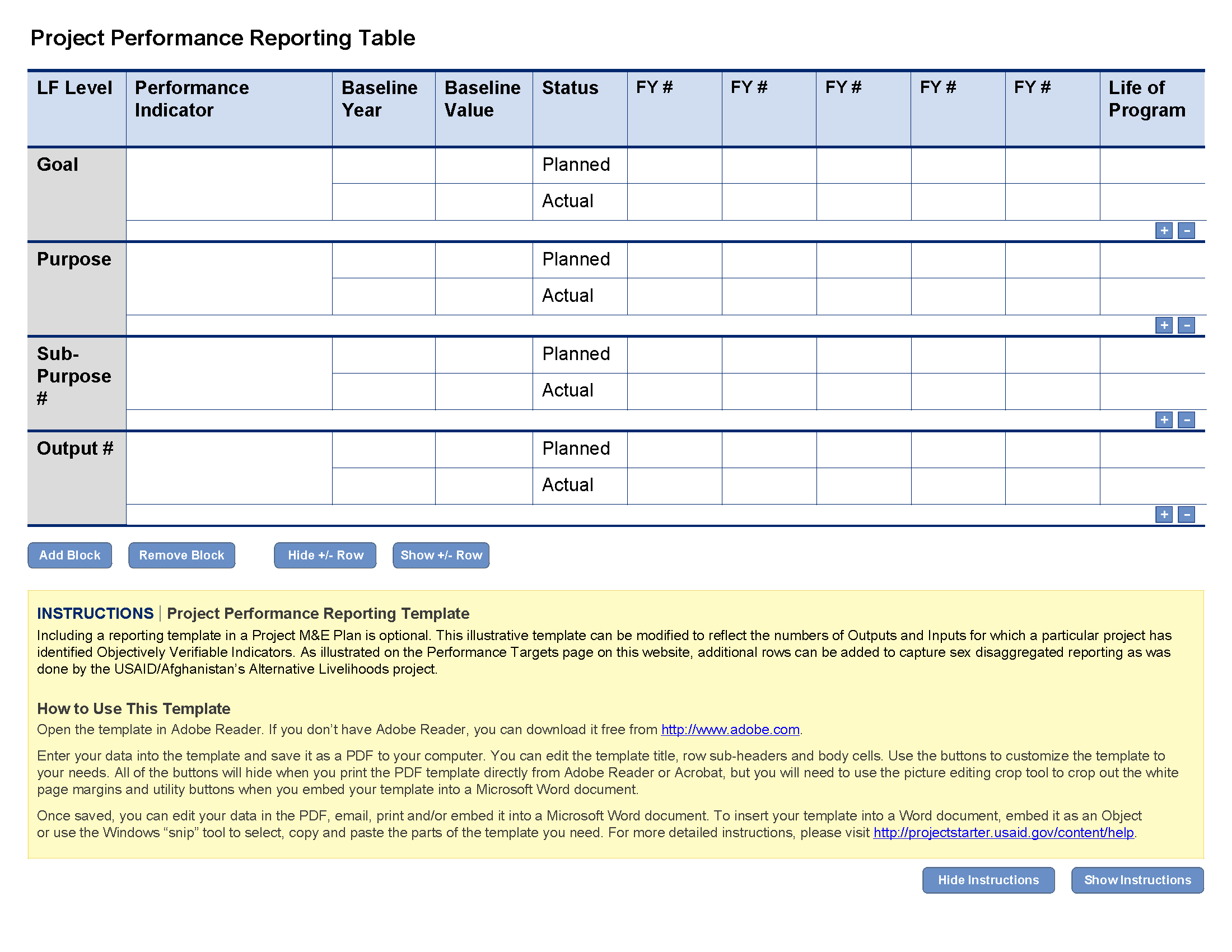 Project Plan Report Template