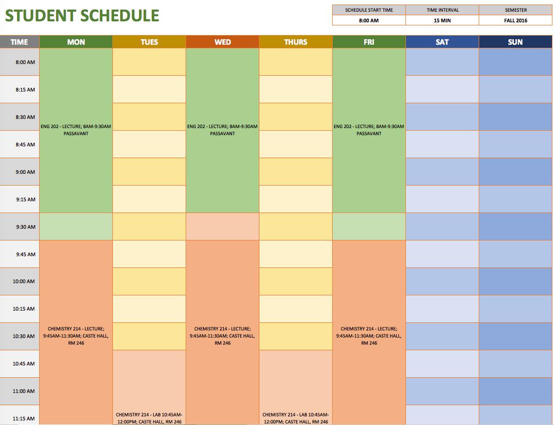 Schedule A Template
