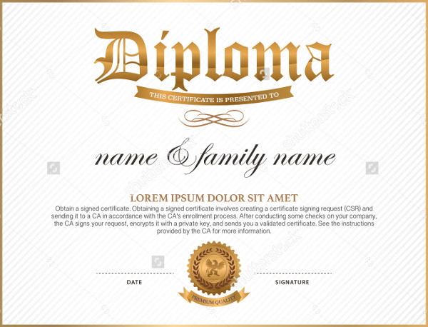 35  high school diploma template download free