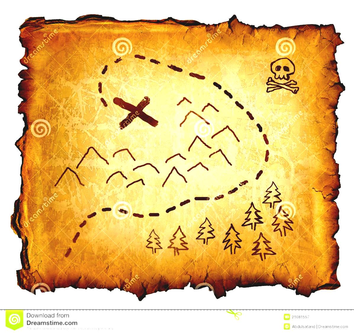 Blank Treasure Map Clipart