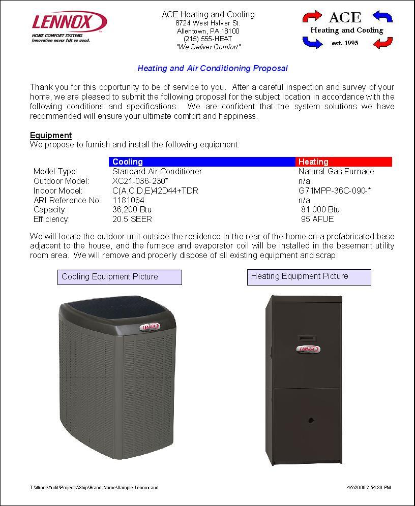 Hvac Proposal Template Pdf - FREE DOWNLOAD
