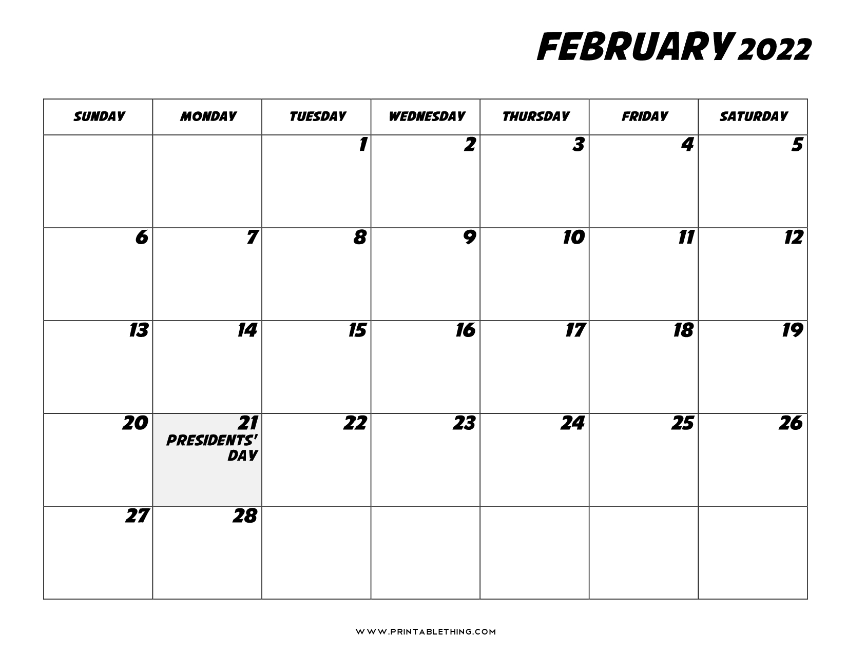 Get an amazing collection of blank jan feb 2022. 20+ February 2022 Calendar | Printable, PDF, US Holidays ...