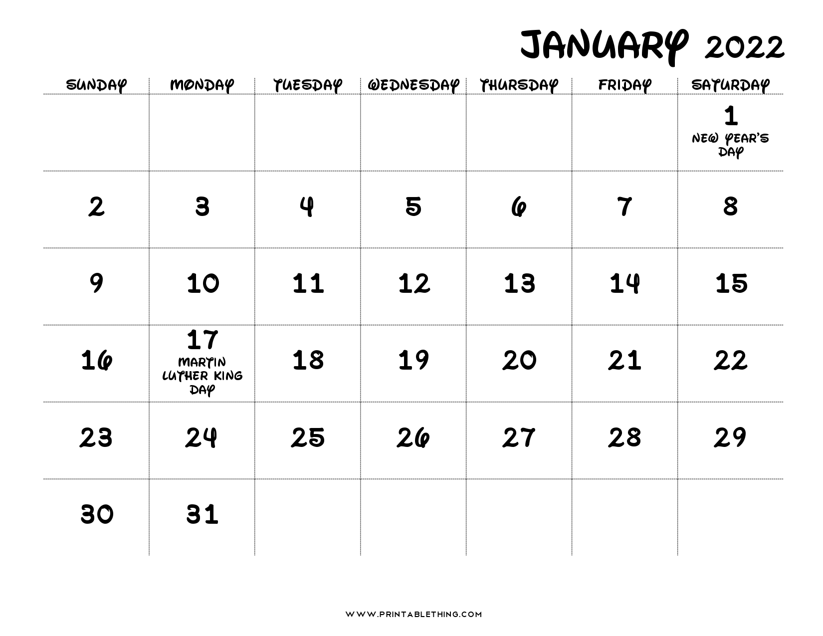 The spruce / lisa fasol these free, printable calendars for 2021 won't just keep you organized; 20+ January 2022 Calendar | Printable, PDF, US Holidays ...