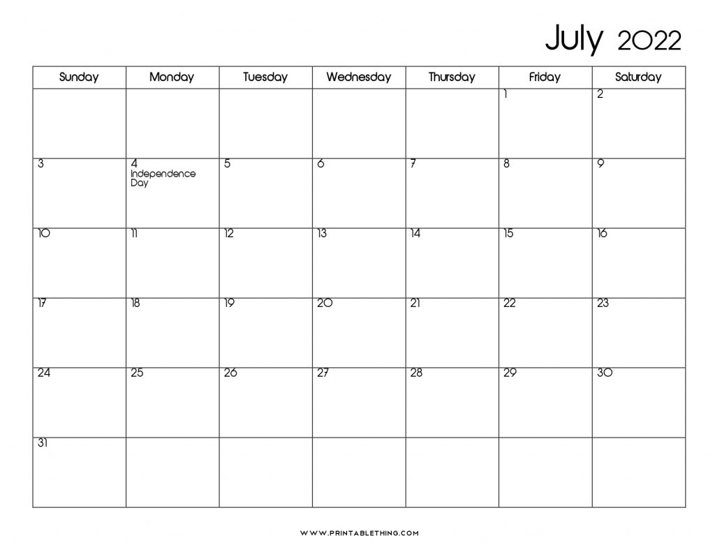 Sure, digital calendars are convenient — we can take them everyw. 20+ July 2022 Calendar | Printable, PDF, US Holidays ...