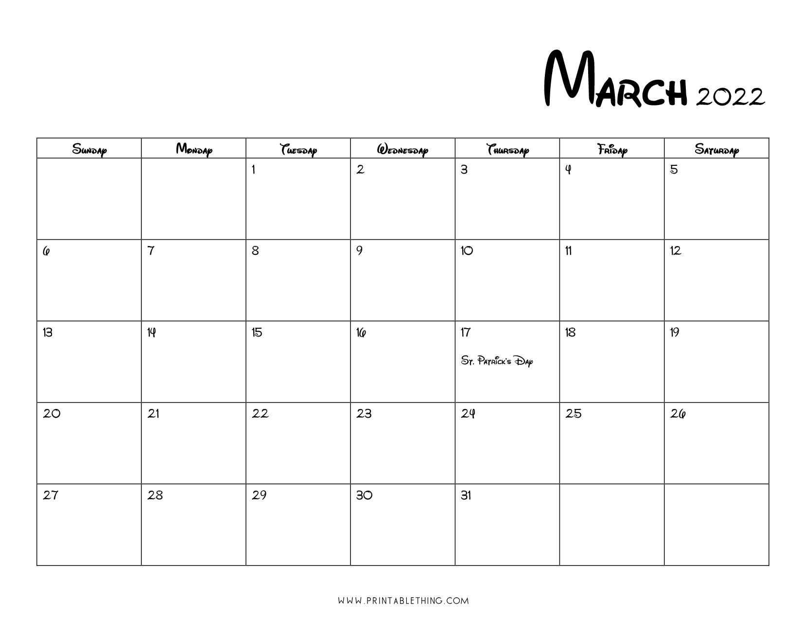 monthly calendar 2022, printable calendar 2022 paper orientation: 20+ March 2022 Calendar | Printable, PDF, US Holidays ...
