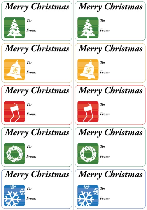 Medium Sized Christmas Gift Tags Printably