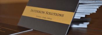 Interkon Business Cards