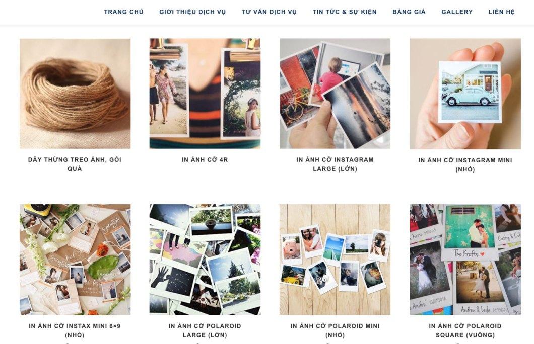 Dịch vụ in ảnh đẹp, giá rẻ,chất lượng cho cỡ Polaroid, Instagram, Polaroid tại TPHCM