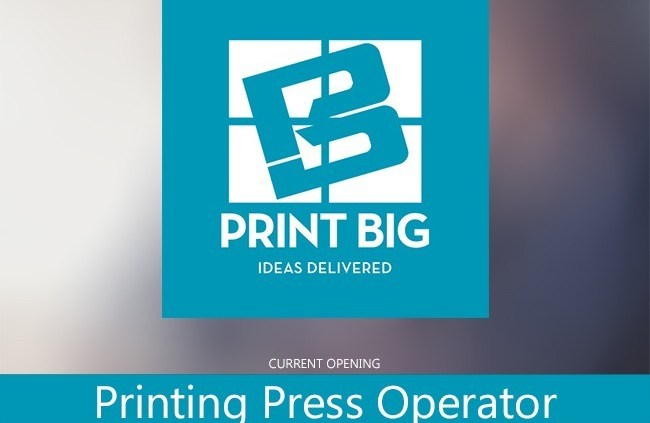 As a Printing Press Operator you must have experience with