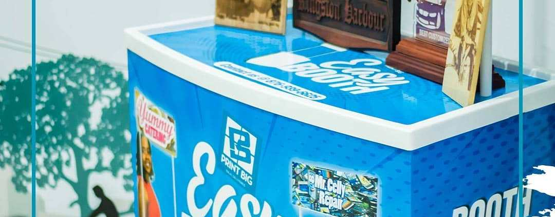 Print Big Easy Booths are great for distributing samples and