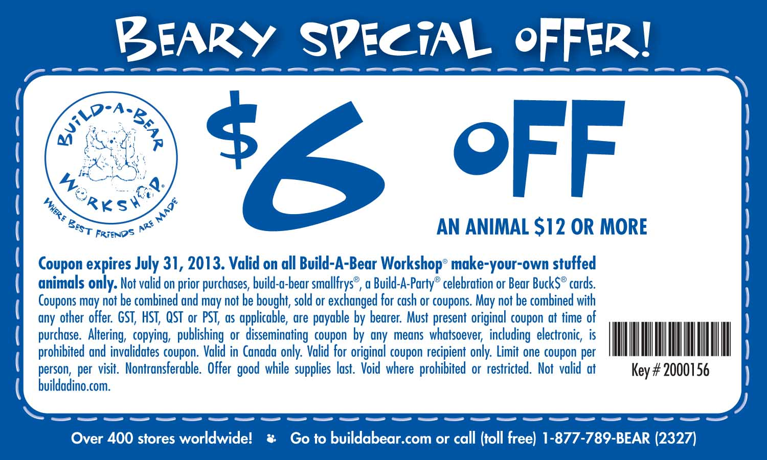 Build A Bear Discount Coupon Print Coupon King
