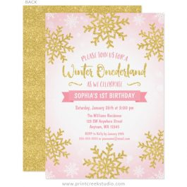 girl birthday party invitations print