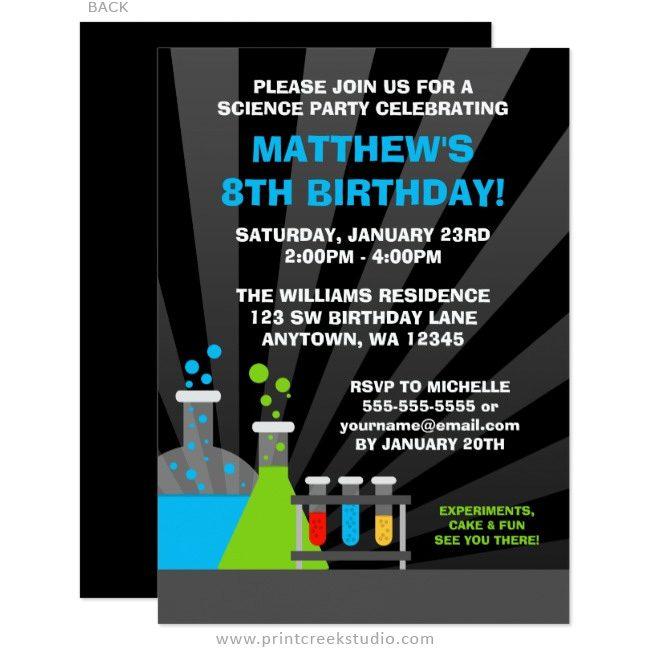 science theme birthday party