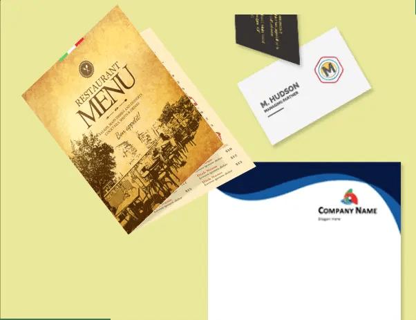 Custom Printed Business Cards_Menus_Posters_Postcards_Brochures