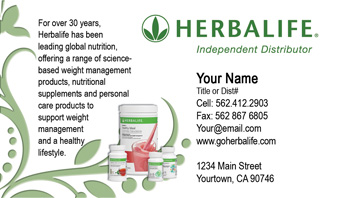 Herbalife Business Cards 1000 Herbalife Business Card 5999