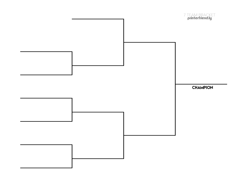 7 Team Single Elimination Bracket