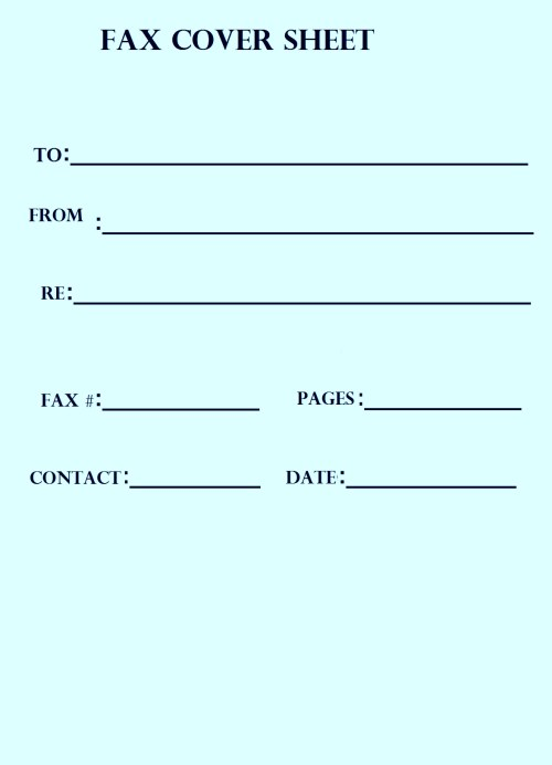 Fax cover sheet simple
