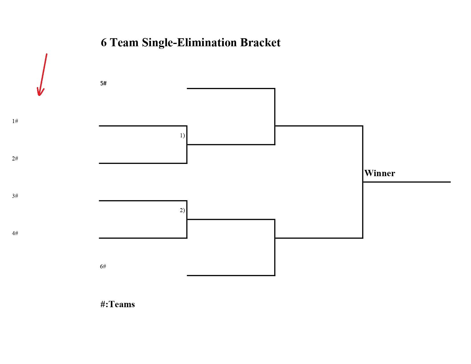 6 team single elimination bracket