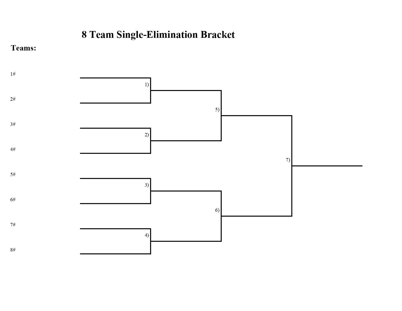 8 team bracket in downloadable and printable PDF