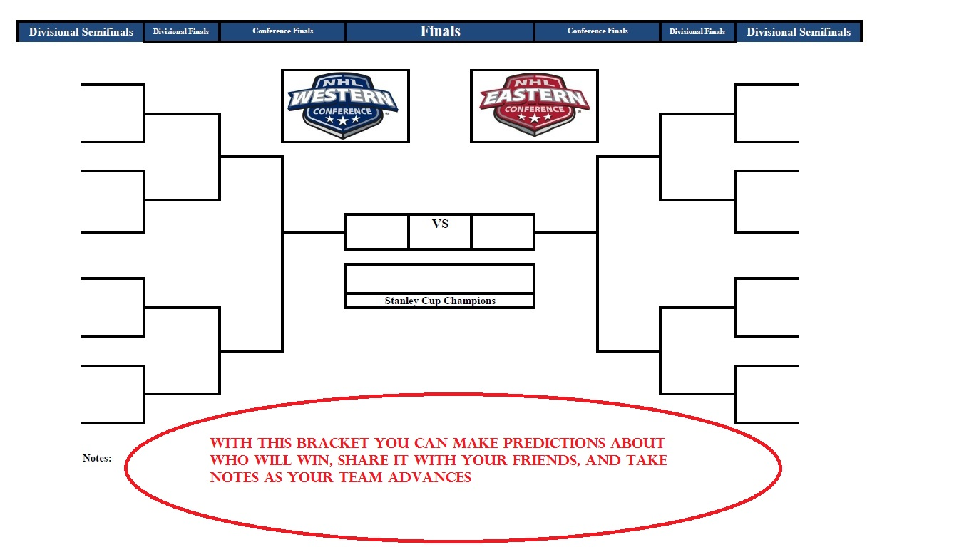 It's just a picture of Lucrative 2020 Nhl Playoff Bracket Printable