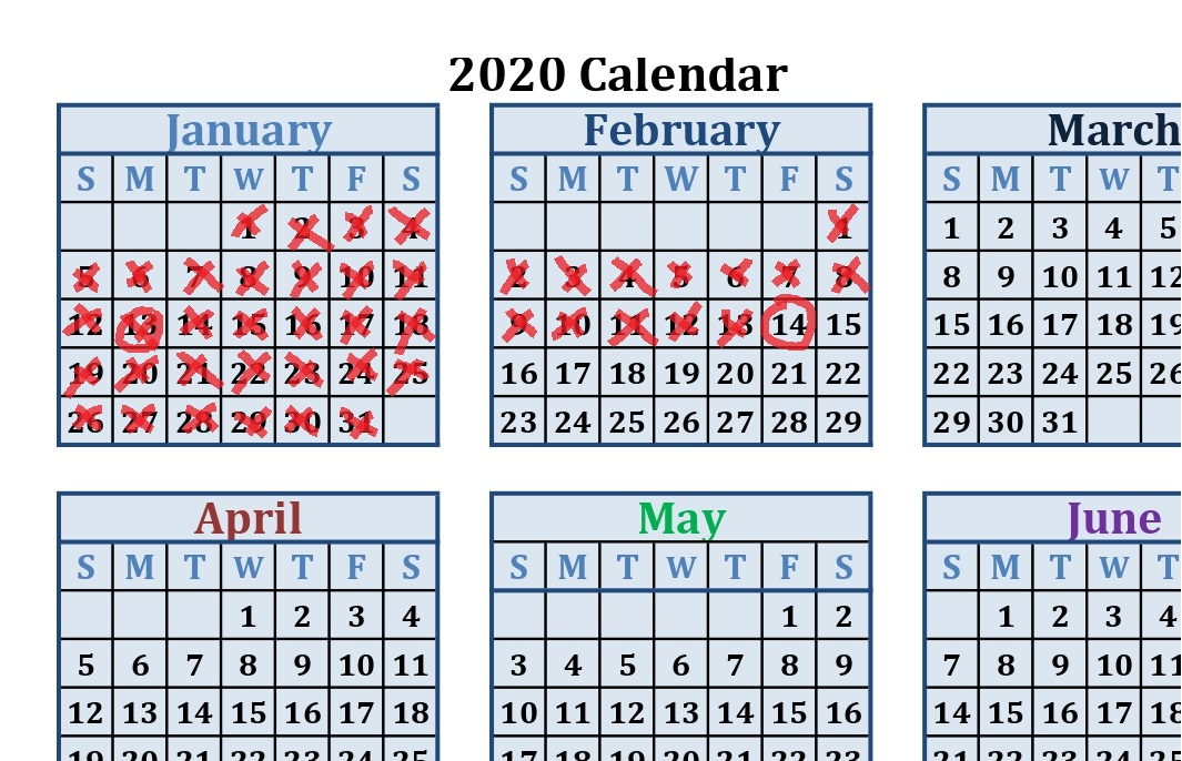 Printable calendar 2020 by month how to use