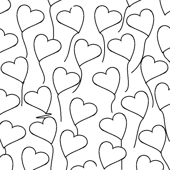 Heart templates small balloons printable