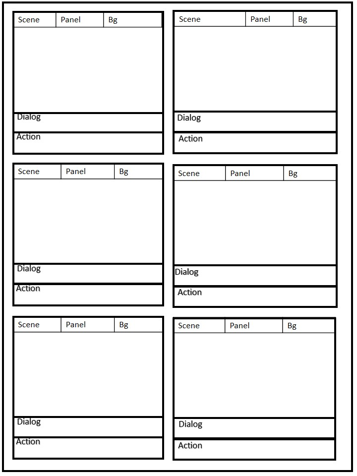 square panel storyboard template