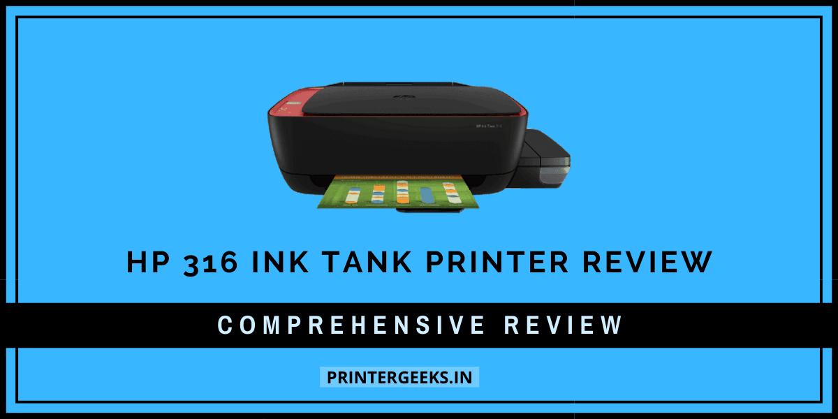 HP 316 INK TANK printer review