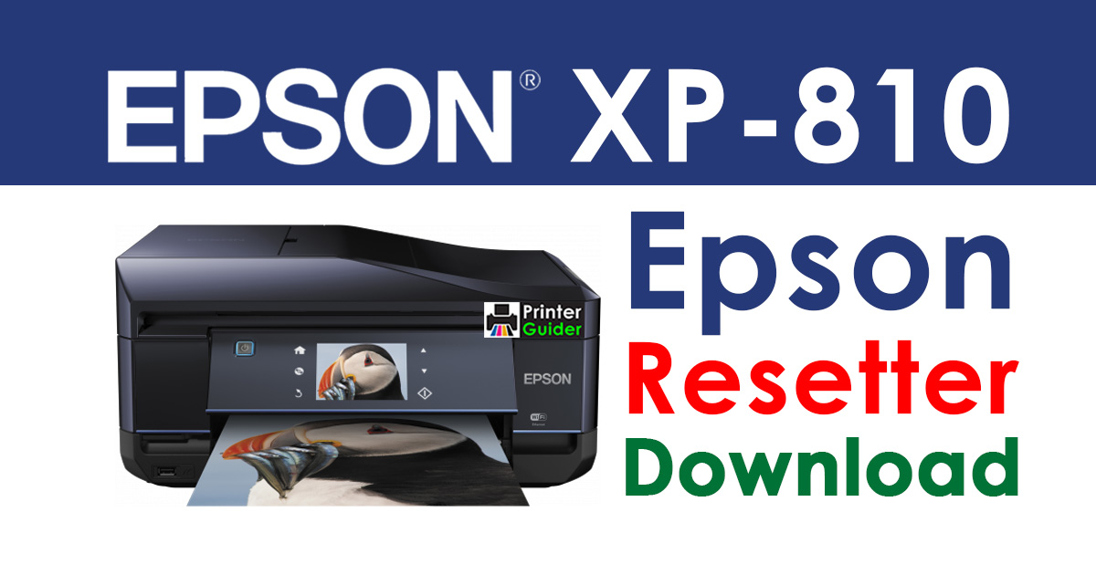Epson XP-810 Resetter Adjustment Program Free Download