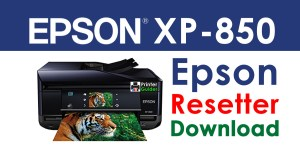 Epson XP-850 Resetter Adjustment Program Free Download