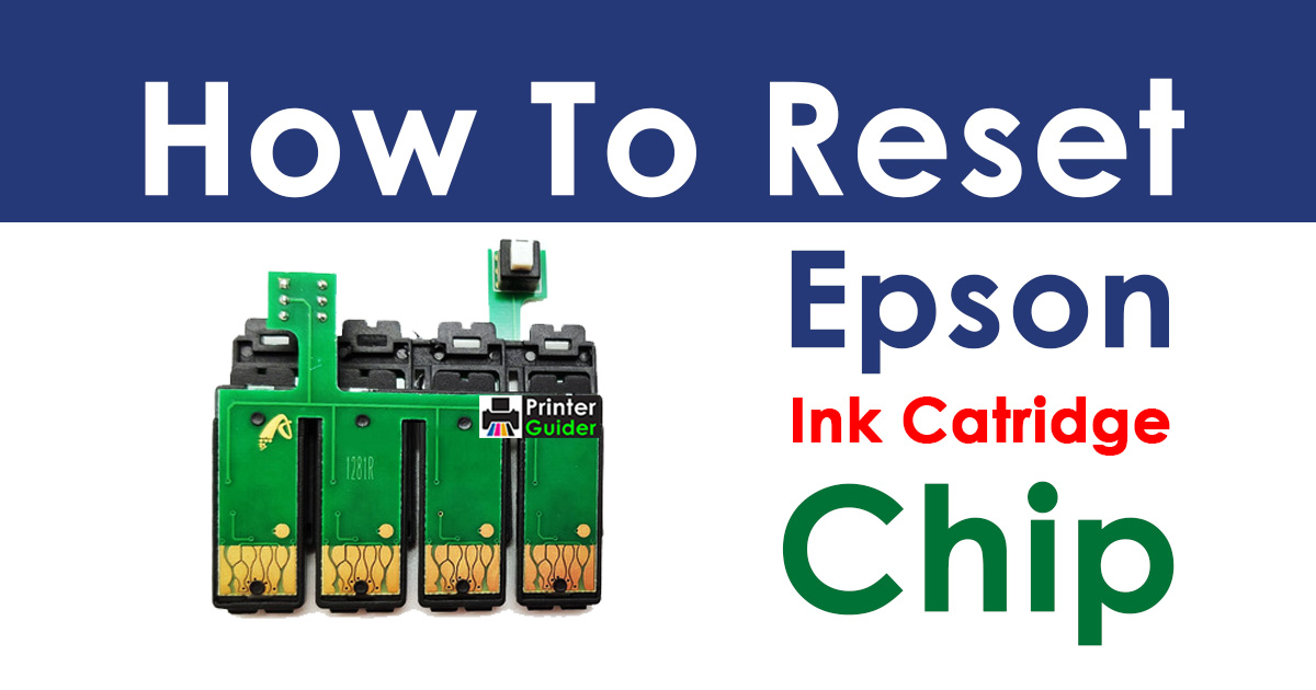 How to Reset Epson Ink Cartridge Chip with Paper Clip