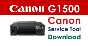 Canon Pixma G1500 Resetter Service Tool Download