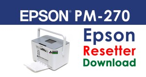 Epson PictureMate 270 Resetter Adjustment Program Free Download
