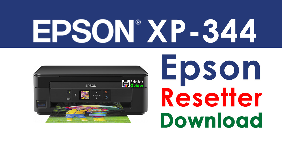 Epson XP-344 Resetter Adjustment Program Free Download
