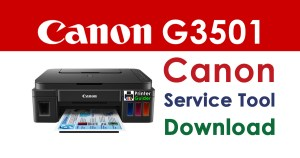 Canon Pixma G3501 Resetter Service Tool Download