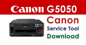 Canon Pixma G5050 Resetter Service Tool Download