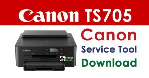 Canon Pixma TS705 Resetter Service Tool Download