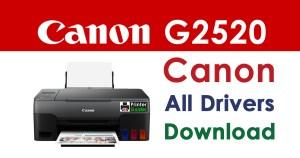 Canon Pixma G2520 Printer Driver Download