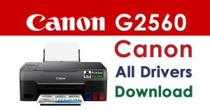 Canon Pixma G2560 Printer Driver Download