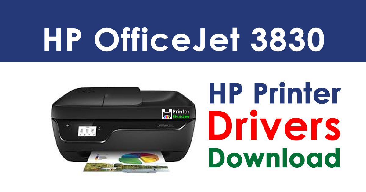 HP OfficeJet 3830 All-in-One Printer Driver Free Download