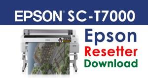 Epson SureColor SC-T7000 Resetter Adjustment Program Free Download