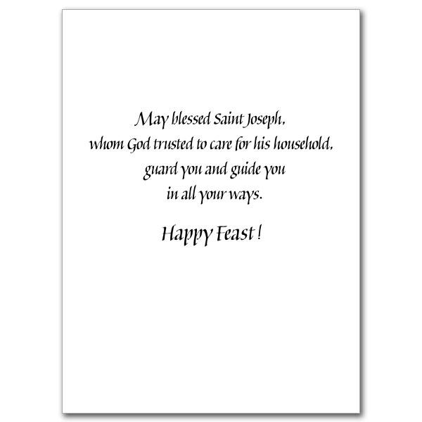 On The Feast Of Saint Joseph St Josephs Day Card