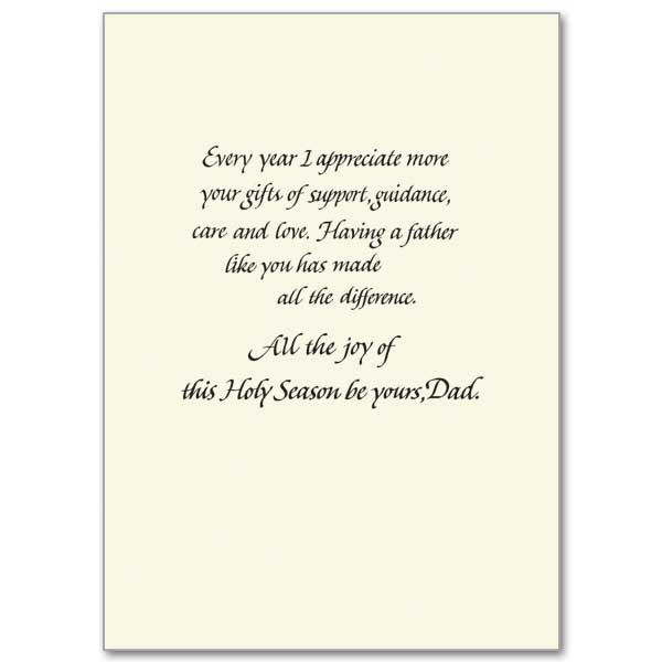 A Christmas Blessing For You Dad Christmas Card For Dad