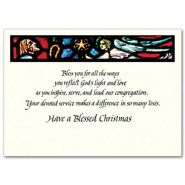 For A Special Pastor At Christmas Christmas Card For Pastor