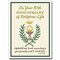 On Your 70th Anniversary Of Religious Life Religious Profession Anniversary Card