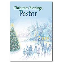 Christmas Blessings Pastor Pastor Christmas Card